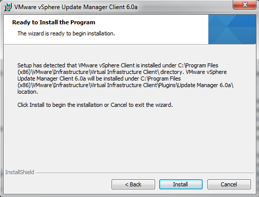 Upgrade VMware Update Manager 5 x to 6 0